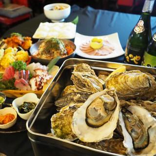 創作和食&ビアガーデンコースの牡蠣&おでん!!