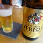 蕎麦ひら井 - ビール