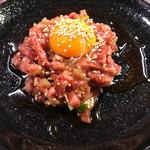 焼肉とんちゃん - 炙りユッケ