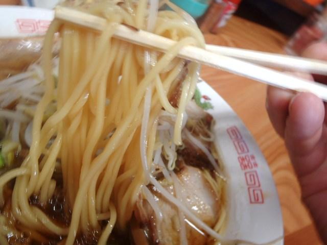萬福食堂 - 細直麺持ち上げ