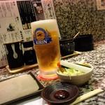 68645474 - お通しと生ビール