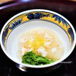 日本料理 とくを - 淀大根の海老そぼろあんかけ