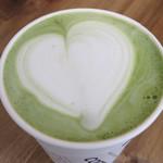 フック コーヒー - 京都宇治抹茶ラテ540円。 濃厚ではありませんが、超クリーミー♪