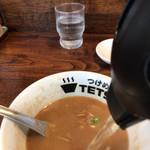 つけめんTETSU - スープ割り