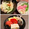 益正 - 料理写真:エビそは、マグロ丼定食(惣菜付)、ドリンクバー 2008円