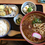日向山 - 日向定食B(蕎麦・冷)820円