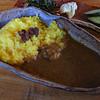ちゃや - 料理写真:「じびえカレー」サラダ・香の物付き980円