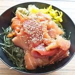 ばんごや - 本日の漬け丼(マグロ・サーモン・ワラサ)