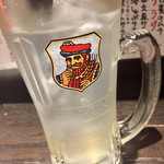 四文屋 - レモンサワー@350円  お疲れちゃん♪サッパリ甘くなくて美味しい!