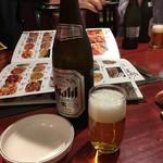 小城 - 瓶ビール中瓶500円