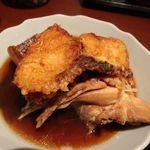 68676417 - お魚の唐揚と大根とお魚の煮物