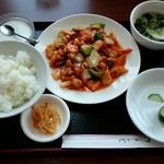 68676952 - 鶏肉カシューナッツ四川風定食
