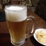 サザンウインドウ - オリオンビール&お通し(490円)(350円)
