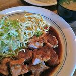 亜茶羅 - 地鶏チキンステーキ@800円