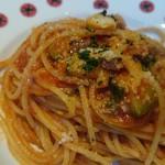 felicibo - こんがりジューシーなパンチェッタに、トマトの旨味が凝縮されたソースが合う!