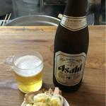 特麺コツ一丁ラーメン - ビール 500円