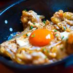 田園茶屋 いとわ - 魅惑の「天とじ親子丼」(950円)。何回食べても最高に美味しいッ!