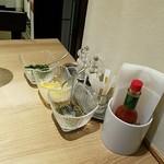 ハシヤ - テーブル周り