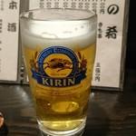 うなぎ 平八 - ビール 800円