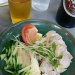 大養軒 - 蒸し鶏とビール~