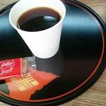コーヒーショップ こころ - ドリンク写真:ホットコーヒー(税込み500円 お菓子付き)