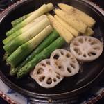 割烹 黒ねこ - 野菜の焙烙焼き