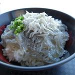 田子の浦港 漁協食堂 - 富士山盛りです
