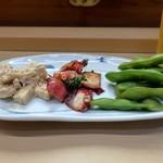 家庭料理 小川 - とりあえずの盛り合わせ