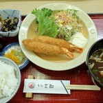 えび三郎 - 大エビフライ定食