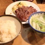 旨味太助 - 牛タン定食A(4枚)@1500円