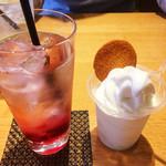 き花の杜 - ソフトクリームとイタリアンソーダ☆