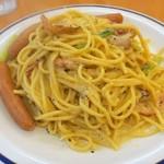 スパゲッティキング - たまご中670円+ソーセージ160円