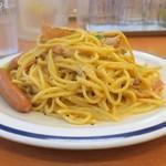 スパゲッティキング - 中は茹で上げ後の麺が500gくらい