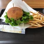 FRIES HOUSE SANZAEMON - 比内地鶏のテリヤキチキンナゲットバーガー