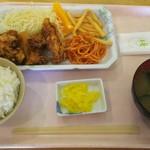 徳島県鳴門病院 7階 外来食堂 - 20170616「日替定食」550円