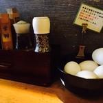 つけ蕎麦安土 - 生卵はお一人一つまで!