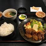 旬彩創宴 貴代 - 日替り定食 ビフカツ定食700円 土曜日100円引き