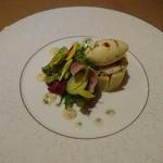 ル ポタジェ - とうもろこしのムースとズワイ蟹のマリネ シャルロット仕立て
