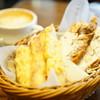 PAUL - 料理写真:モーニングセット (お好みのパン + お好きなドリンク) (¥540)、クロワッサン・アマンド (¥345)