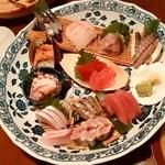 酒の魚 和海 - 酒の魚 和海@新橋 刺身10点盛り
