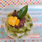サンテカフェ - 葉っぱはお茶の葉です。飾りなので食べられません。花は食用。(^ ^)