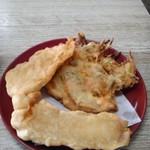 桃原天ぷら - 料理写真:イカ、サカナ、野菜