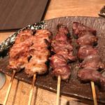 軽井沢 鶏味座 - おいだれ焼鳥盛