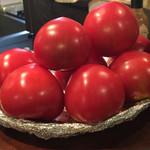 小倉山 - カウンターの上の美味そうなトマト