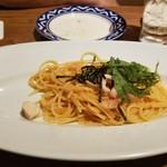 イタリアンバルパステル - 明太子とヤリイカパスタ ハーフ(480円)