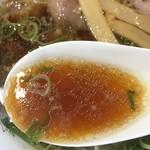 丸岡商店 - 中華そば<並>(650円)スープ