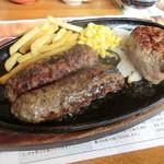 68726022 - 極み炭焼きがんこハンバーグ&炭焼きやわらかカットステーキ コンビ ランチ1,620円