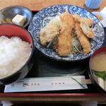 菊水 - ミックスフライ定食870円
