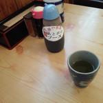 藤や食堂 - 卓上の後がけソース