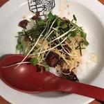 九州らーめん 亀王 - ハーフジャン丼